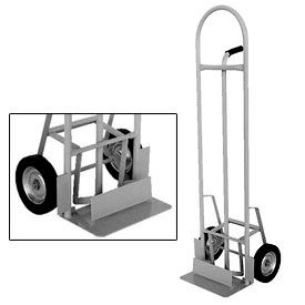 High Back Aluminum Hand Truck with Push-Out Nose Plate