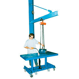Tie-Rod Wall Mount Jib Cranes for High Ceilings