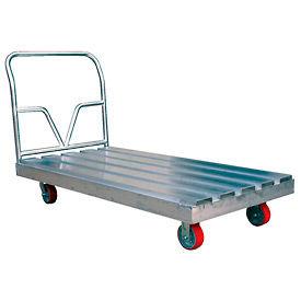 Camion de plate-forme de pont de manche en aluminium