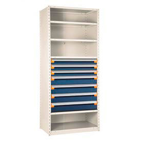 Rousseau Industrial Steel Shelving With Drawers