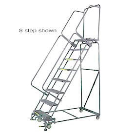 Stainless Steel Lockstep Rolling Ladders