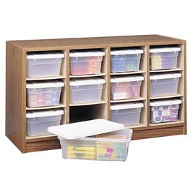 Supply Organizer With Plastic Bins