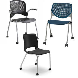 Stacking Chairs with Casters