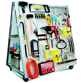 Industrial Strength Mobile Pegboard Tool Carts