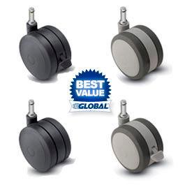 Shepherd® Softech Grip Ring Stem Soft Tread Casters