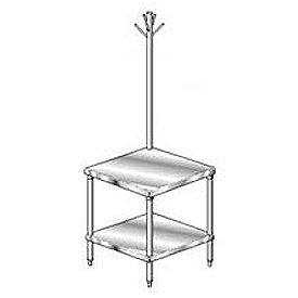 Economy Stainless Steel Mixer Stand With Galvanized Understructure