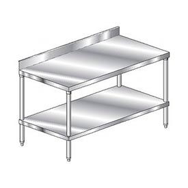Stainless Steel Workbenches - 4 Inch Backsplash