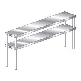 Stainless Steel Double Riser Shelves