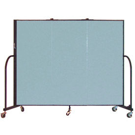 Screenflex® - 4'H Vinyl Upholstered Mobile Room Dividers