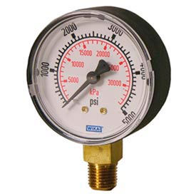 Wika® Polished Brass Commercial Gauges