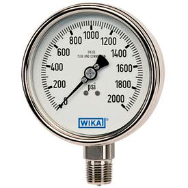 Wika® Stainless Steel Industrial Gauges With Bayonet Ring