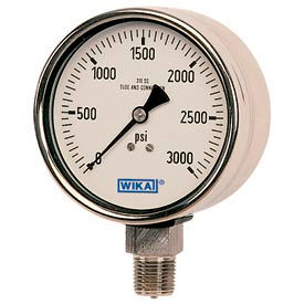 Wika® Liquid Filled Solid Front Stainless Steel Safety Process Gauges