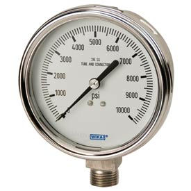 Wika® Liquid-Filled Stainless Steel Industrial Gauges With Bayonet Ring