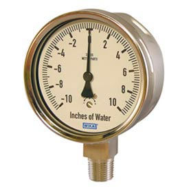 Wika® Stainless Steel Low Pressure Gauges With Stainless Steel Wetted Parts