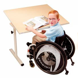 Knob Adjusted Wheelchair Accessible Tables