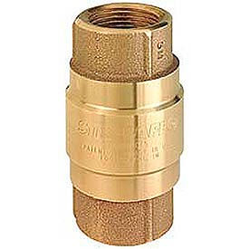 Brass Check Valves With Rubber Poppets