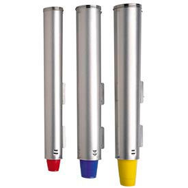 Dispense-Rite® en acier inoxydable réglable Surface ou Cup Mount support et couvercle distributeurs
