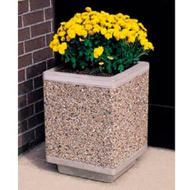 Wausau Tile - Square Concrete Planters – 14 To 28 Inch Wide