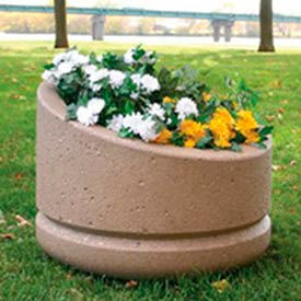 Wausau Tile - Round Concrete Planters – 24 To 27 Inch Wide