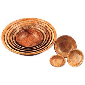 Bols de bois tissé et plaques