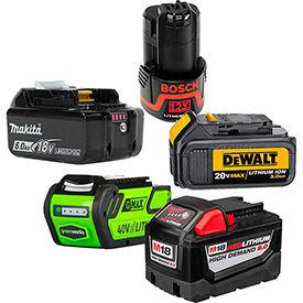 Batteries d'outils électriques sans fil