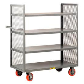 2-Sided Steel Shelf Trucks with Mesh End Panels