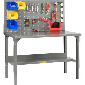 Little Giant® Adjustable Height Welded Workbenches with Panel