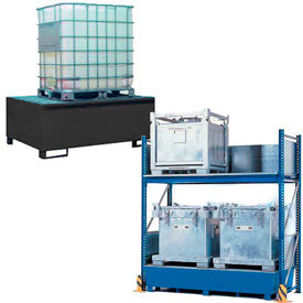 Stations de contrôle pour le déversement de bac acier