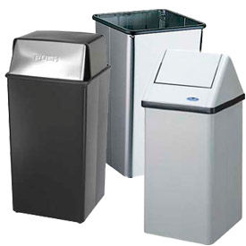 Square Trash Cans