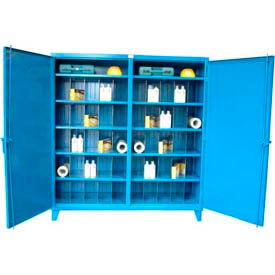 Stronghold® Heavy Duty Double Door, Independent Lock Cabinet With Dividers