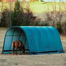 ShelterLogic® Instant Run-In Equine Sheds