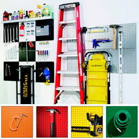 Alligator Board - Metal Pegboard Panels & Accessories (Assorted Colors)