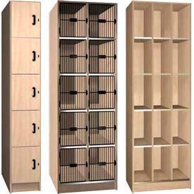 Ironwood Five Tier Compartment Wood Lockers