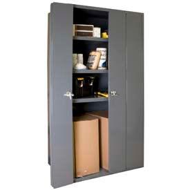 All-Welded Heavy Duty BiFold Door Storage Cabinets