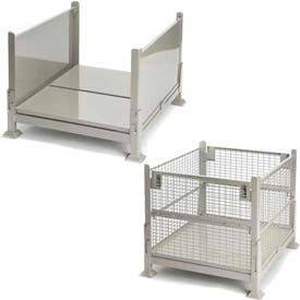 Folding Steel Containers - Sheet Metal and Wire Mesh