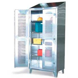 Stronghold® Stainless Steel Cabinets with Ventilated Doors