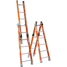 Werner® Fiberglass Combination Ladder