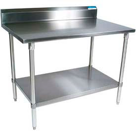 Stainless Steel Workbenches - 4 Inch to 10 Inch Backsplash