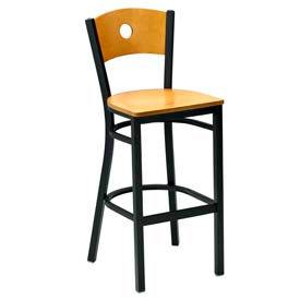 Premier Hospitality Furniture - Wood Back Metal Frame Bar Stools