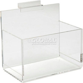 Acrylic Slatwall Shelves, Trays & Bins