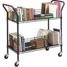 Safco® fil Double face Book Cart