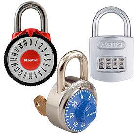 Plan de la sécurité face à cadenas à combinaison