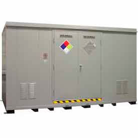 Securall® Hazmat Chemical Storage Buildings, 16-80 Drum Capacity
