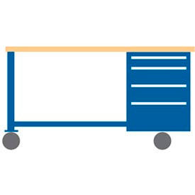 Mobile Workbenches with Cabinet