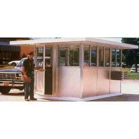 Pre-Assembled Security Guard Buildings With Overhang Roofs