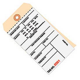 Inventory Tags - Carbonless