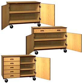 Ironwood Mobile Wood Cabinets 36