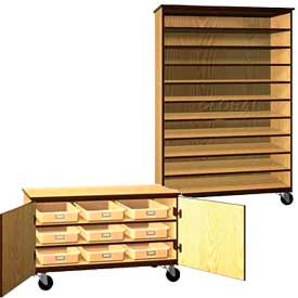 Ironwood Mobile Wood Tote Tray Cabinets