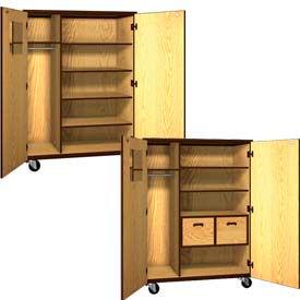 Ironwood Mobile Wood Teachers Storage Cabinets