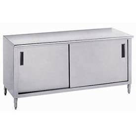 Advance Tabco Work Table Cabinets With Sliding Door